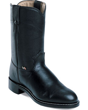 Justin Basics Roper Boots, Black, hi-res