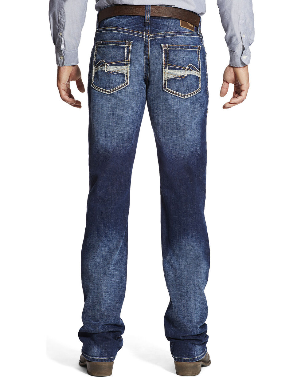 Ariat Men's M4 Whitewash Jeans - Boot Cut , Indigo, hi-res