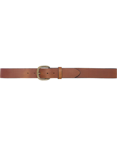 Justin Men's Basic Work Belt , Brown, hi-res