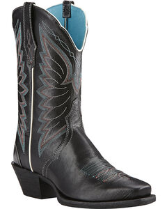 Ariat Old Black Autry Performance Cowgirl Boots - Square Toe , , hi-res