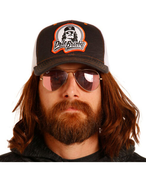 Rock & Roll Cowboy Men's Dale Brisby Heathered Patch Cap, Brown, hi-res