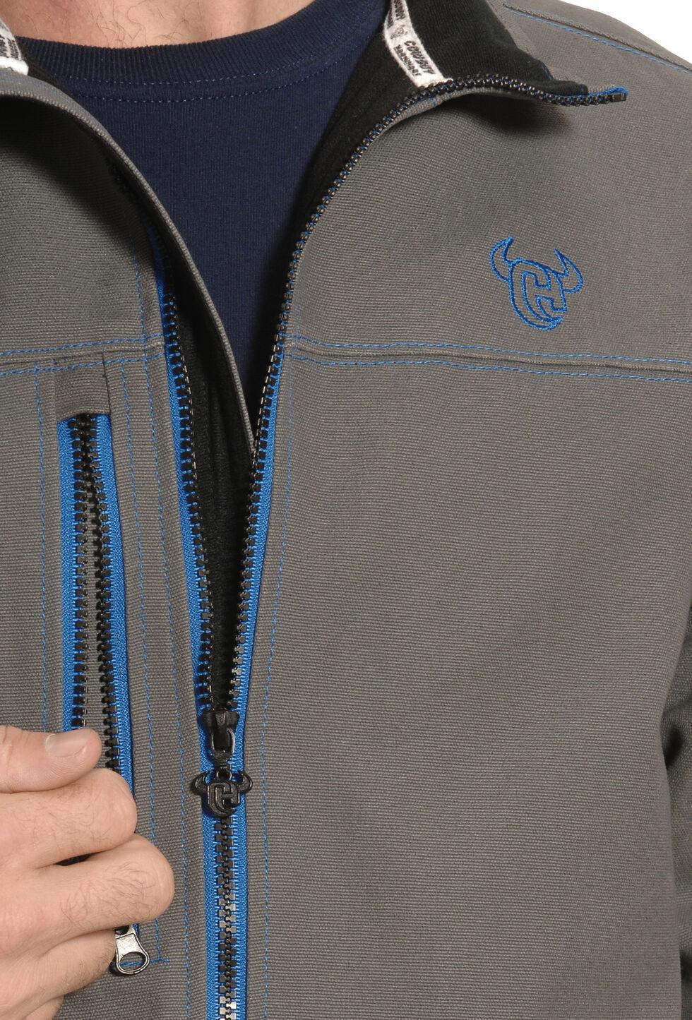 Cowboy Hardware Men's Grey and Blue Woodsman Jacket , Steel, hi-res