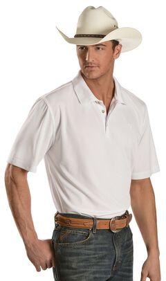 Ariat White Tek Polo Shirt, , hi-res