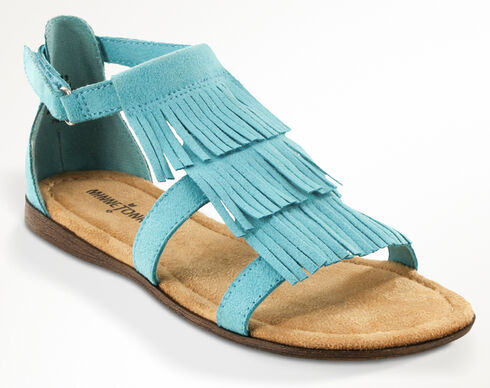 Minnetonka Girls' Maya Sandals, Turquoise, hi-res