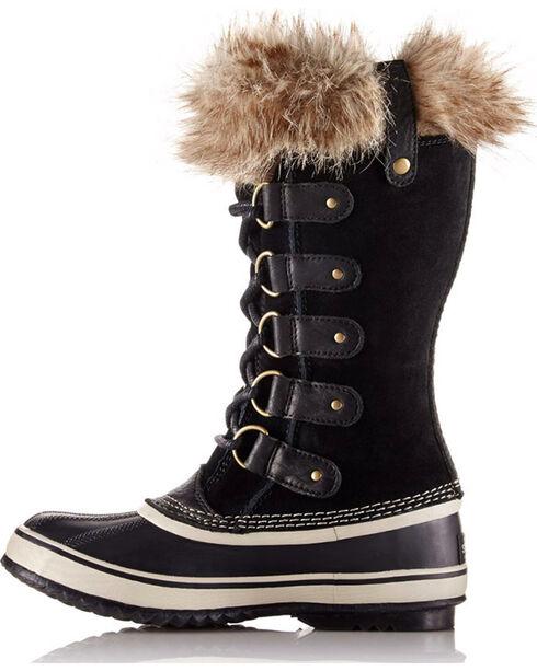 Sorel Women's Black Joan Of Arctic Waterproof Boots - Round Toe , Black, hi-res