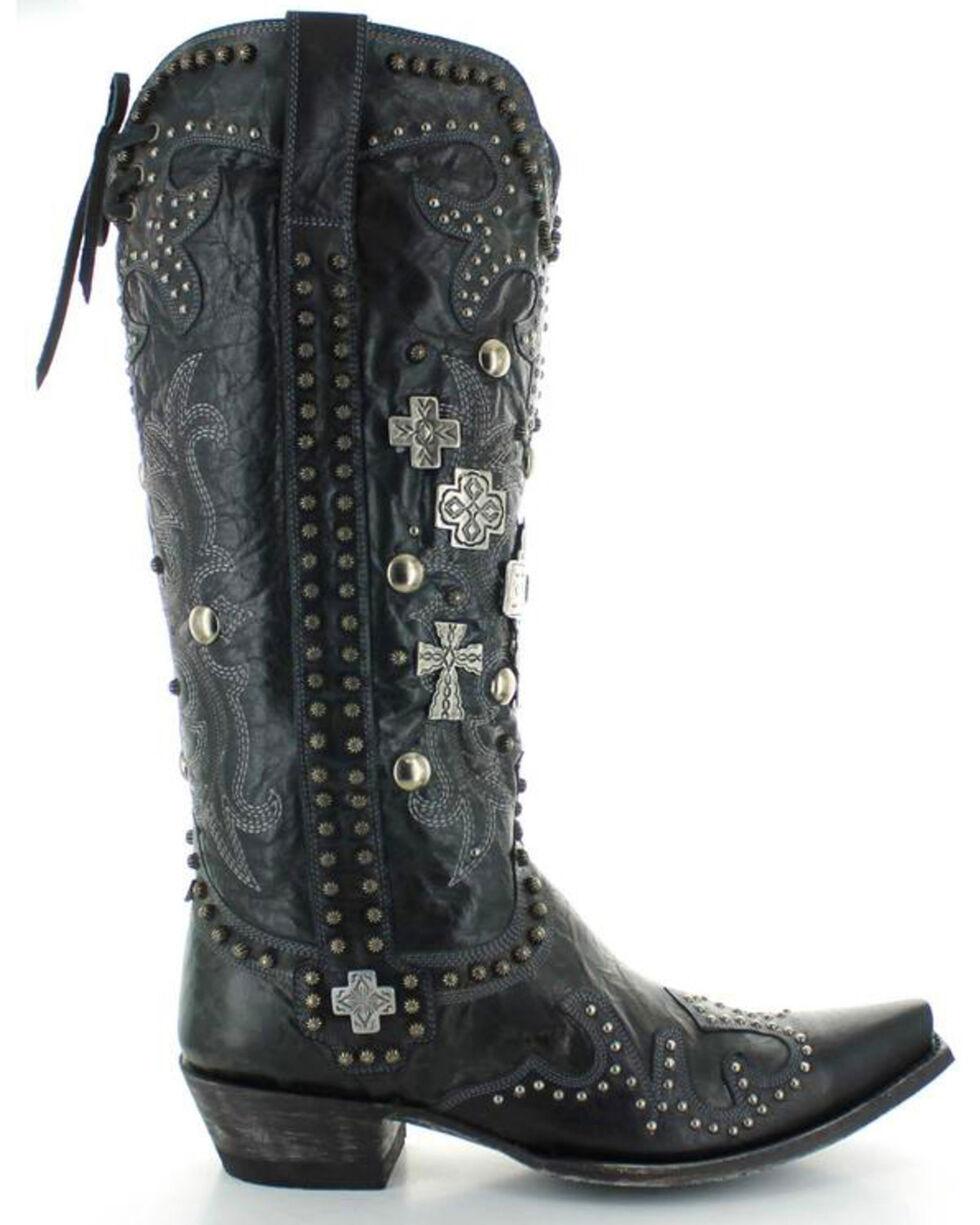 Old Gringo Double D Ranch Ammunition Black Cowgirl Boots - Snip Toe, Black, hi-res