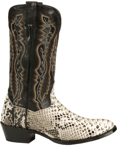Dan Post Men's Omaha Python Cowboy Boots - Round Toe, Natural, hi-res