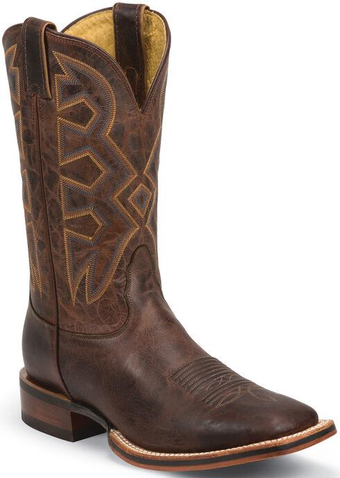Nocona Cognac Zulu Let's Rodeo Western Boots - Square Toe , , hi-res