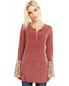 Aratta Women's Mauve Merry Knit Top , Mauve, hi-res