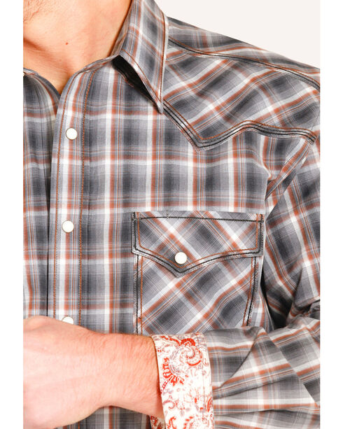 Panhandle Slim Men's Rough Stock Amesbury Vintage Ombre Shirt , Grey, hi-res