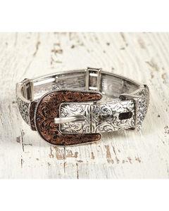 Shyanne Women's Filigree Buckle Stretch Bracelet, Rust Copper, hi-res