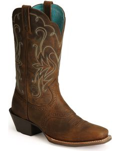Ariat Saddle Vamp Legend Riding Cowgirl Boots - Square Toe, , hi-res