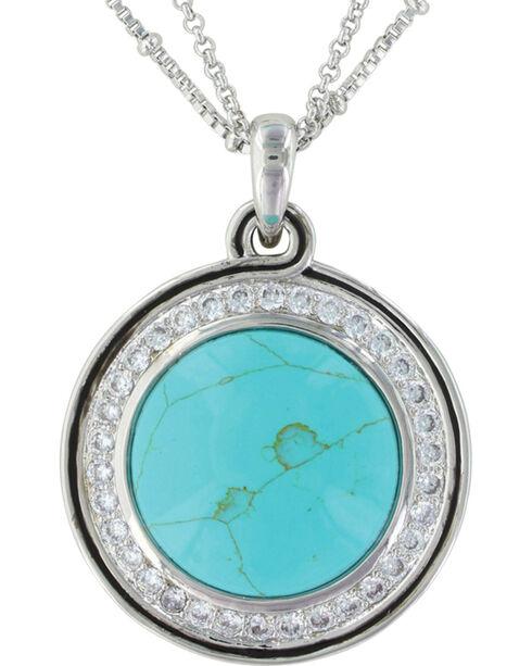 Montana Silversmiths Women's Classic Turquoise Medallion Jewelry Set , Silver, hi-res