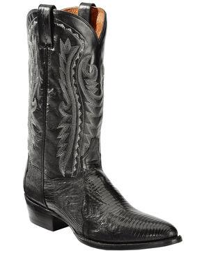 Dan Post Raleigh Black Lizard Cowboy Boots - Medium Toe  , Black, hi-res