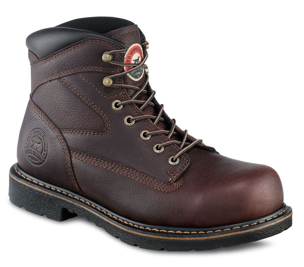 """Irish Setter by Red Wing Shoes Men's Farmington King 6"""" Lace-Up Work Boots - Steel Toe, Brown, hi-res"""