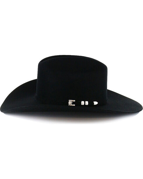 George Strait by Resistol Logan 6X Felt Hat, Black, hi-res