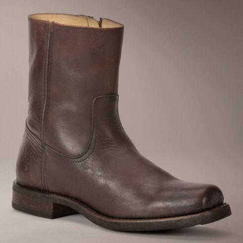 Frye Heath Inside Zip Boots, Dark Brown, hi-res