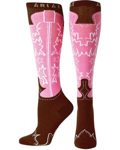 Ariat Women's Knee High Western Boot Socks, , hi-res