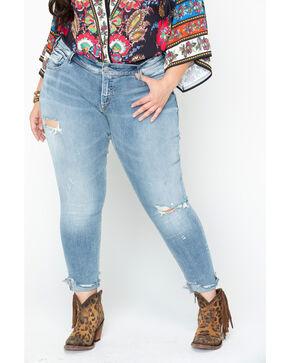 Silver Jeans Women's Kenni Boyfriend Jeans - Plus Size, Indigo, hi-res