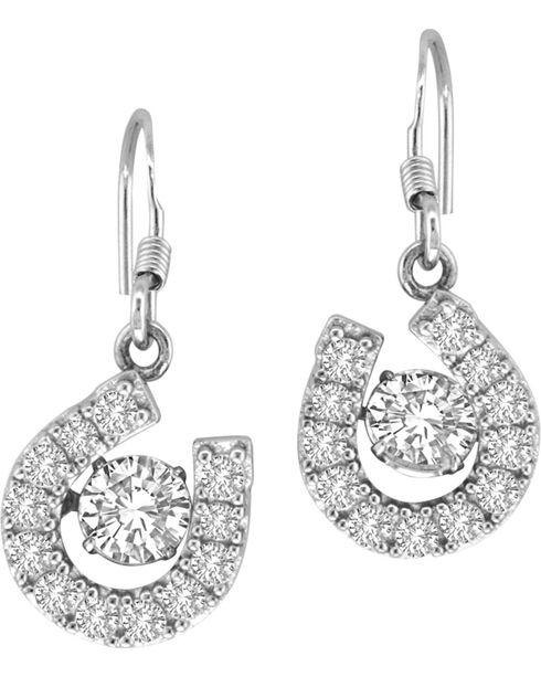 Kelly Herd Sterling Silver Dancing Diamond Earrings , Silver, hi-res