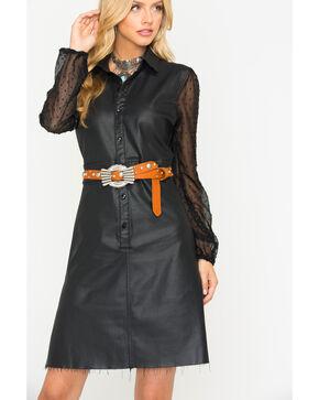 Tractr Women's Long Sleeve Sheer Lace Dress, Black, hi-res