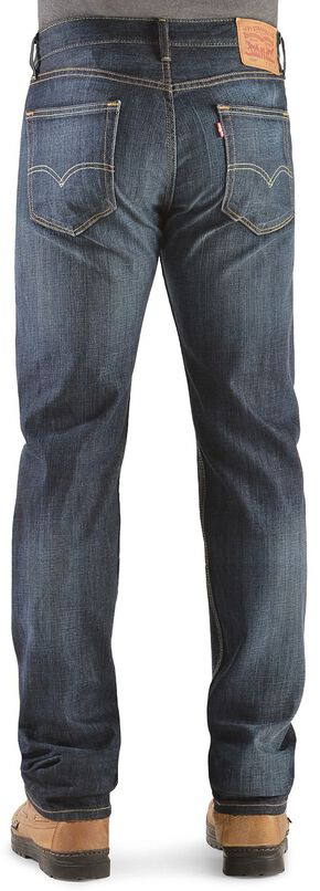 Levi's 505 Shoestring Rinse Straight Leg Jeans, Dark Denim, hi-res