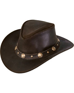 Outback Trading Co. Men's Rawhide Leather Hat, , hi-res
