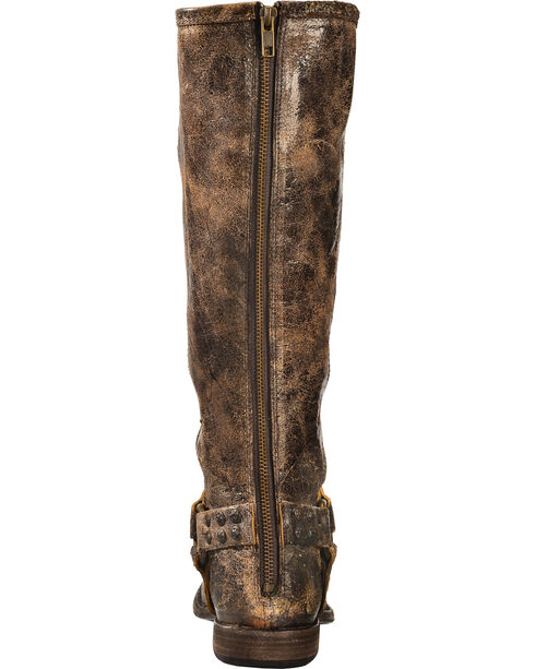 Frye Women's Phillip Studded Harness Riding Boots - Round Toe, Chocolate, hi-res