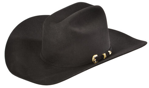 Serratelli Men's Black 10X Fur Felt Austin Cowboy Hat, Black, hi-res
