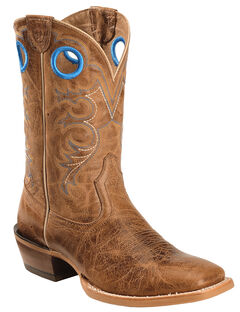 Ariat Distressed Brown Crossfire Cowboy Boots - Square Toe , , hi-res
