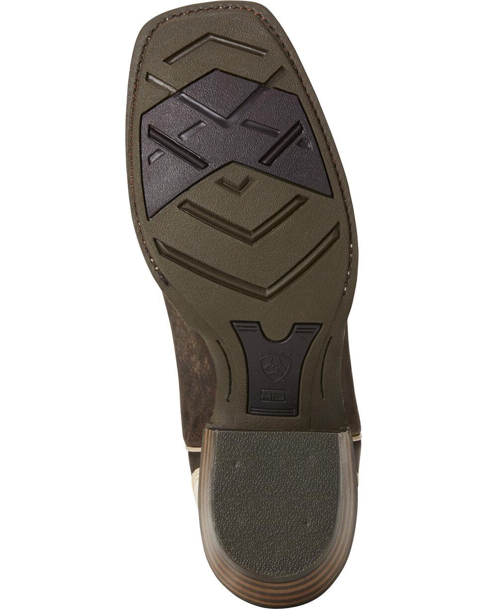 Ariat Men's Fire Creek Branding Iron Boots - Square Toe , Dark Brown, hi-res