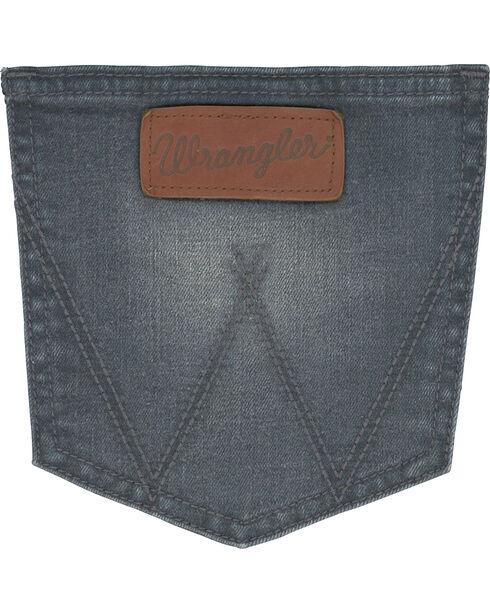 Wrangler Retro Men's Slim Fit Straight Leg Grey Denim Jeans - Long, Grey, hi-res