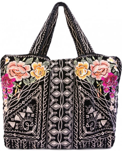 Johnny Was Women's Flores Velvet Tote Bag , , hi-res
