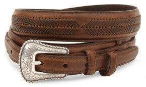 Nocona Leather Ranger Belt - Extended Sizes, Brown, hi-res