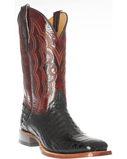 Cinch Men's Caiman Belly Western Boots - Square Toe, Black, hi-res