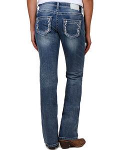 Shyanne Women's Light Stitch Boot Cut Jeans, Blue, hi-res