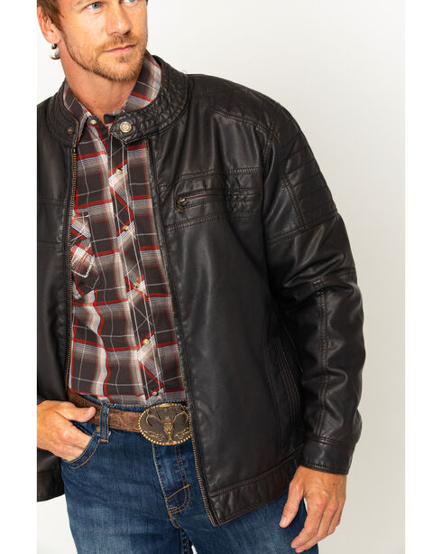 Cody James Men's Devils Bend Faux Leather Jacket, Brown, hi-res