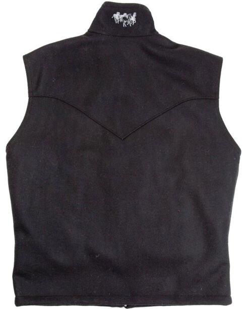 Schaefer Men's Black Arena Melton Wool Vest, Black, hi-res