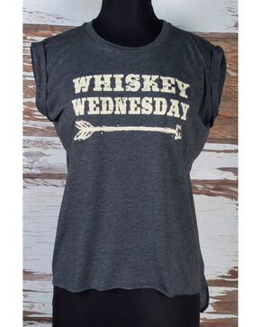 Cowgirl Justice Women's Whiskey Wednesday T-Shirt , Grey, hi-res