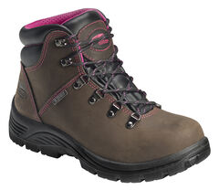 Avenger Women's Hiking Boots - Steel Toe, Brown, hi-res
