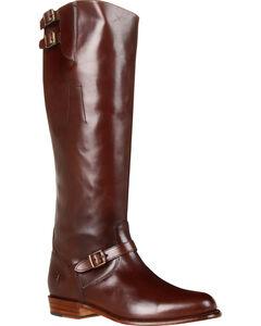 Frye Women's Dorado Buckle Riding Boots, Dark Brown, hi-res