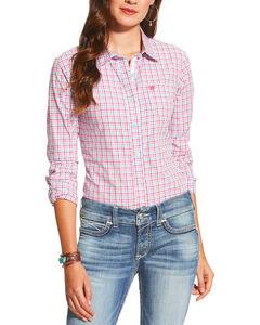 Ariat Women's Kirby Long Sleeve Plaid Shirt , Multi, hi-res