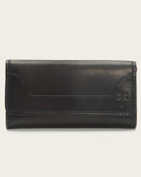 Frye Women's Melissa Zip Wallet, Black, hi-res