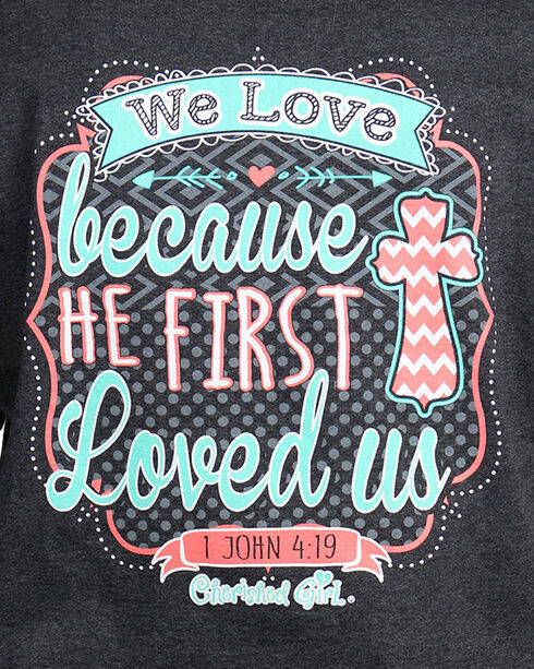 "Cherished Girl Women's ""We Love"" Graphic Tee, Grey, hi-res"