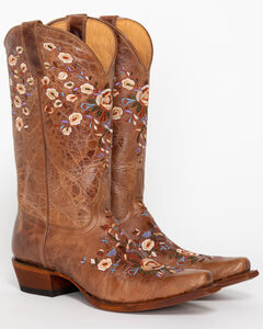 Shyanne Women's Floral Embroidered Western Boots - Snip Toe, , hi-res
