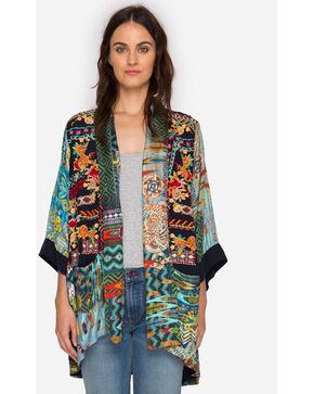 Johnny Was Women's Koben Canvas Embroidered Kimono, Multi, hi-res