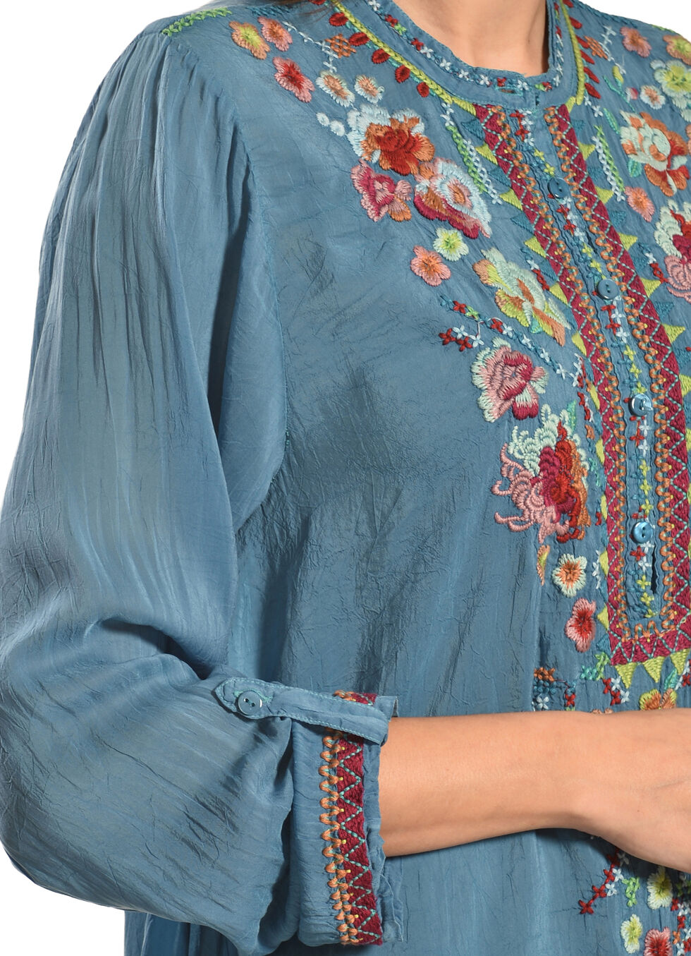 Johnny Was Women's Sable Tunic, Blue, hi-res