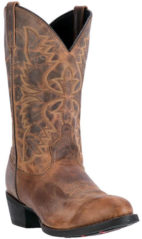 Laredo Birchwood Cowboy Boots - Round Toe , Tan, hi-res
