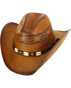 Western Express Kids' (S-XL) Brown Brockway Straw Hat , Dark Brown, hi-res