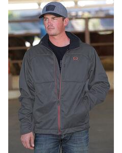 Cinch Men's Grey Hooded Softshell Jacket , Grey, hi-res